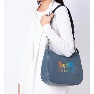 Coach Rainbow Glitter Jes Hobo Bag